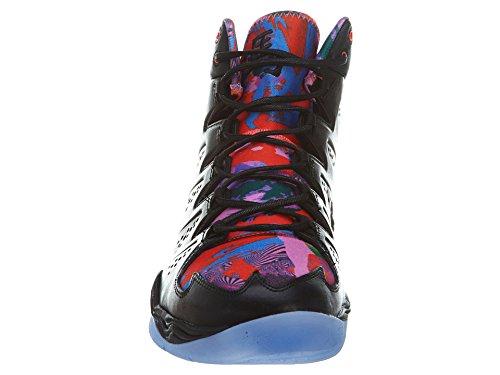 Nike Air Jordan Melo M10 Yoth Heren Hi Top Basketbal Trainers 649.352 Sneakers Schoenen Zwart / Zwart-dp Ryl Blue-dp Vlt