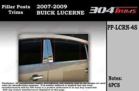 Fit:2003-2008 Infiniti FX35//FX45 8Pc Chrome Pillar Post Stainless Steel Trim