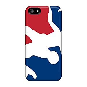 Shock-Absorbing Hard Phone Cover For Iphone 5/5s (VZX9195NFhW) Allow Personal Design High-definition Usa Wrestling Logo Skin