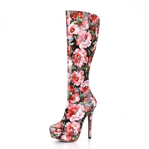 14 Automne 3 Bottes for Hiver Hauts Talons CM Femmes Chaussures Plate CM Bottes 8wTAq4EI