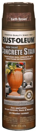 Rust-Oleum 247162 Concrete Stain Spray, Earth Brown, 15-Ounce