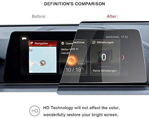XHULIWQ スクリーンプロテクターカーナビゲーションタッチディスプレイ9H強化ガラスプロテクター、BMW 5シリーズG30 530i 520d 530d 10.25インチ用