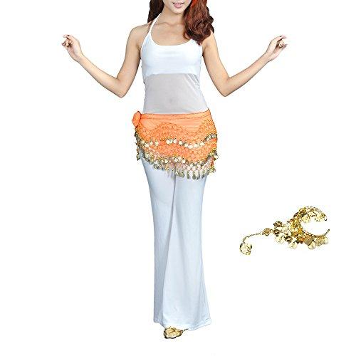 TopTie Gold Coins Belly Dance Hip Scarf Dance Belt Gypsy Bracelet