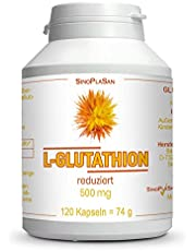 L-glutathion verminderd || 500 mg per capsule || 120 capsules || veganistisch || zonder toevoegingen || SinoPlaSan