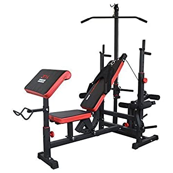 banc de musculation care rouge