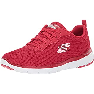 Skechers womens Flex Appeal 3.0 Sneaker, Red, 9.5 US