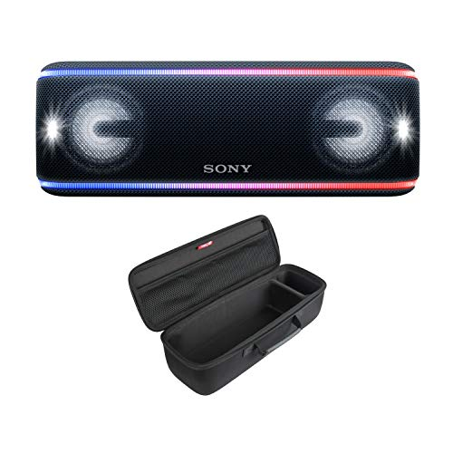 Sony SRS-XB41 Portable Bluetooth Speaker (Black) with Hard Shell Carrying case