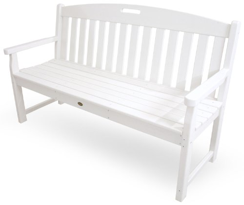 Trex Outdoor Furniture TXB60CW 60-Inch Yacht Club Bench, Classic White ()