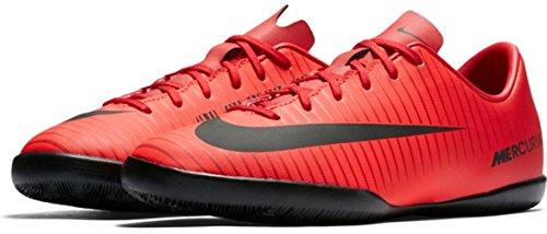 Nike Kid's Jr. MercurialX Victory VI Indoor/Court Soccer Shoe - Red/Black/Bright Crimson, 3.5 Big Kid M - Nike Big Kids Mercurial Grip