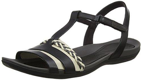 Clarks Sandaal Genade T-slides Dames Tealite Zwart (zwart Leer)