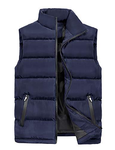 senza Vest Giacche Cappotto maniche Street Wear casual Giacca forti Ideal Abbigliamento uomo per scuro Daily Blue cotone di Besbomig taglie t1wvdqFq