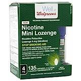 Walgreens Nicotine 4MG Mint Mini-Lozenges, 135 ea