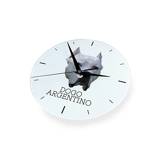 Dogo Argentino, Wall Clock with an Image of a Dog, Geometric 2