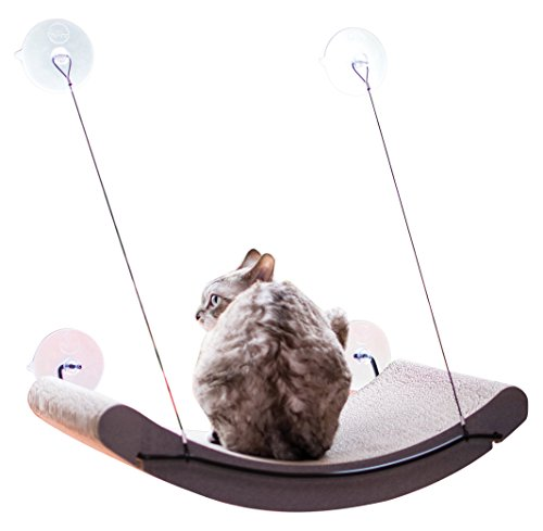 "K&H Pet Products EZ Mount Scratcher Kitty Sill Cradle Tan 11"" x 20"" x 2"" ()"