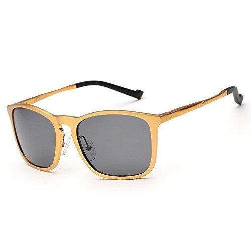 polarizadas Marco Color Hombre 400 Yxsd Gafas SunglassesMAN Protección Aviator de de Oro Brown Sol UV para xOU48wIq8
