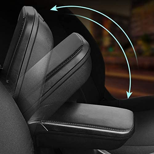 Gaetooely Leather PU Armrest Storage Box for Smart 453 Fortwo Forfour 2015-2018 with Cup Holder Locker Container Car Accessories