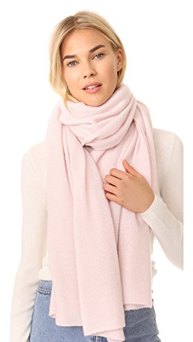 White + Warren Women's Cashmere Travel Wrap Scarf, Dawn Pink Heather, One Size by White + Warren