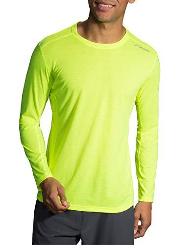 (Brooks Men's Distance Long Sleeve T-Shirt, Nightlife, X-Small)