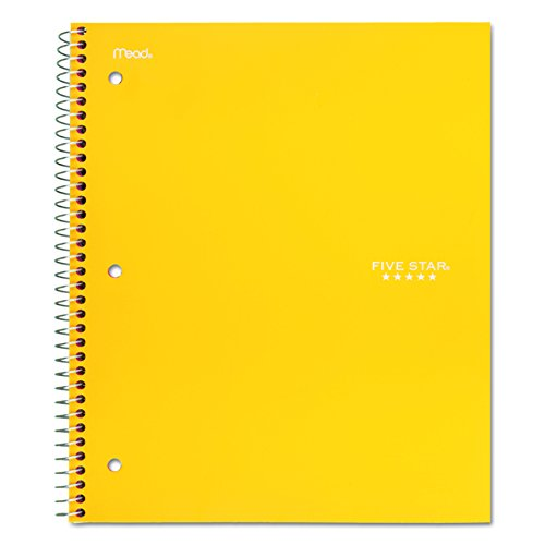 """043100060444 - Five Star Spiral Notebook, 1 Subject, College Ruled Paper, 100 Sheets, 11"""" x 8-1/2"""", Color Will Vary (06044) carousel main 3"""