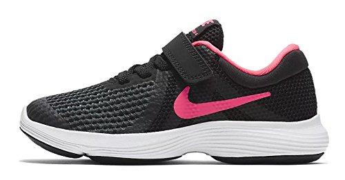 Nike Unisex-Kinder Laufschuh Revolution 4, Schwarz (Black/Racer Pink. 004), 35 EU