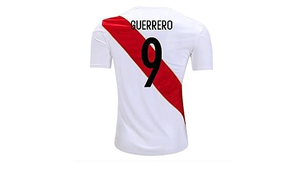 Amazon.com  Umbro Guerrero  9 Peru Home Men s Soccer Jersey World Cup  Russia 2018 White 95c054e94f