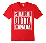 Men's Funny Canada T-Shirt - STRAIGHT OUTTA CANADA Shirt Medium Red