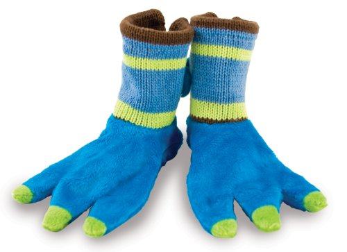 Rich Frog Beastly Monster Baby Booties Socks, Blue - up to 6 mo
