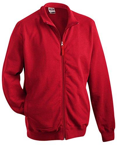 James & Nicholson – Sweat Sweat Sweat Jacket Felpe, Uomo, Sweat Jacket, Bordeaux, XL a01099