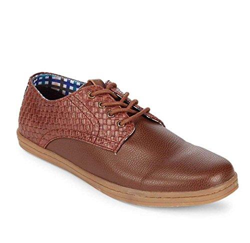 - Ben Sherman Men's Presley Oxford Shoes (9, Cognac Woven)