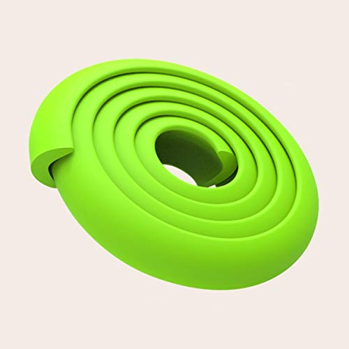 419DVNVQS0L ZHONGJIUYUAN 2 Piece 2M (Green) Children Protection Table Guard Strip Baby Safety Products Glass Edge Furniture Horror Crash Bar Corner Foam Bumper    Features: Made from qualified material, non-toxic and environmentally friendly. Extra thick premium high density edge guard for high protections. Double-sided tape can be firmly adhered to the desktop, protects baby from accident hit. Suitable to most surfaces, such as wood, glass, granite, ceramic, metal and plastic. Many colors available to match your furniture.
