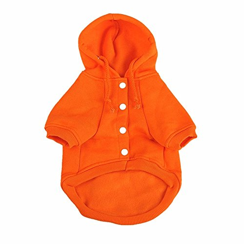 Extra Small Puppy Costumes (Namsan Autumn and Winter Cotton Warm Casual Coats with Hoodie for Puppy Doggie Dog Clothes - Orange -Extra Small)