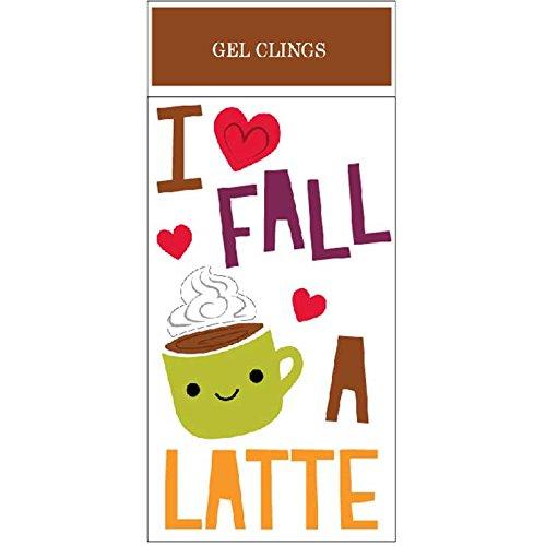 Impact Innovations Fall A Latte Window Gel Clings, 5.5 x 12 ()