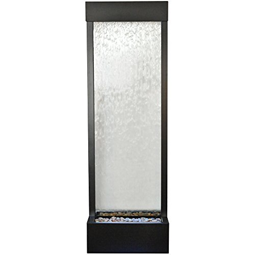 BluWorld Tall 6' Black Onyx Garden Fall with Clear Glass