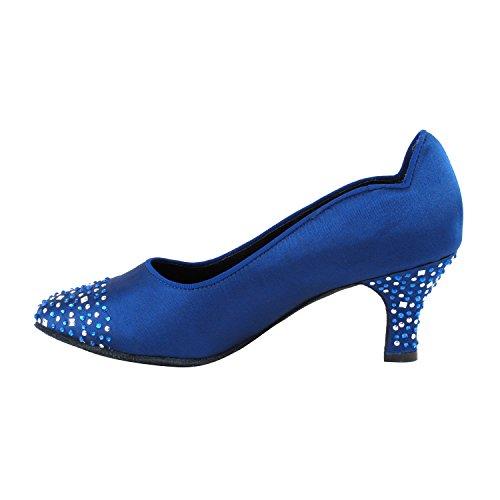 Gold Pigeon Shoes Party Party SERA5501 Comfort Evening Dress Pumps, Wedding Shoes: Women Ballroom Dance Shoes Medium Heel 5501- Blue Satin