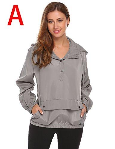 SummerRio Women's Long Sleeve Hoodies Pullover Button Patchwork Sweatshirt Jacket by SummerRio (Image #1)