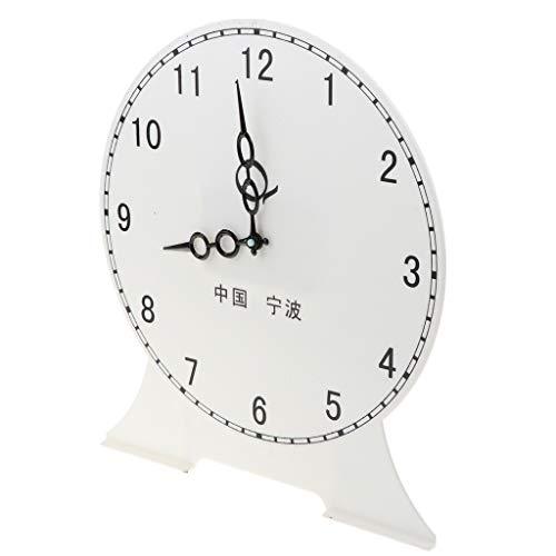 B Blesiya Student Teaching Time Clocks Teacher Gear Clock Preschool Learning Time Toy - 12 Hour Clock A