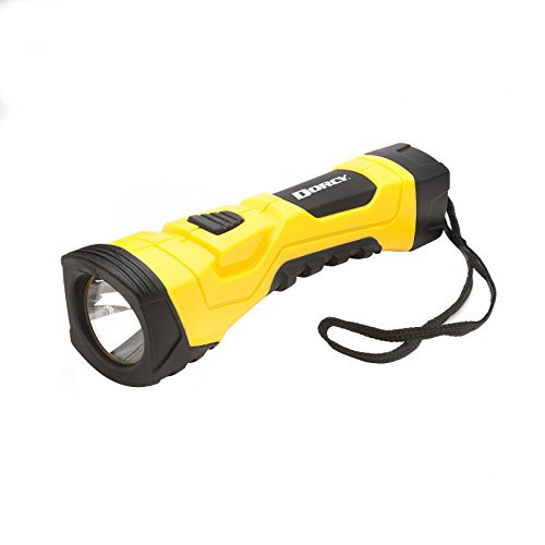 Dorcy 190-Lumen High-Flux LED Cyber Light Flashlight with True Spot Reflector System and Lanyard, Yellow (41-4750)