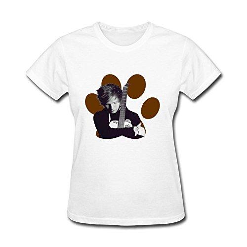 - Tommery Ed Sheeran Shirt Ed Sheeran Tour Album Design Cotton Women's T-Shirt M