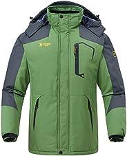 Rdruko Men's Outdoor Ski Snow Jacket Waterproof Fleece Mountain Hooded Rain