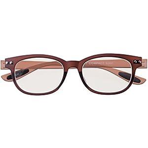 メイガン(Meigan) おしゃれ 老眼鏡 ブルーライトカット ブラウン 度数+1.50 (colorfulook 軽量 形状記憶 フレーム) 5562-15