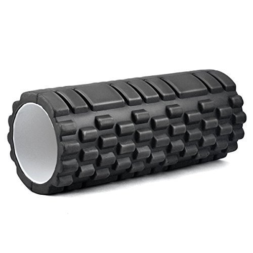 Kabalo - 1 x BLACK Textured Exercise / Yoga Foam Roller for Gym Pilates Physio Trigger Point