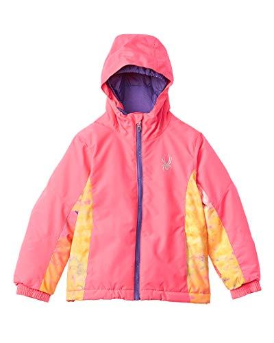 (Spyder Girls Bitsy Charm Jacket, Size 5, Bryte Bubblegum/Morning Sky Bryte B/Gum Print/Iris)