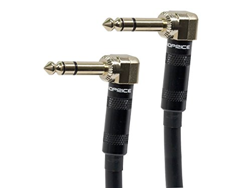 Monoprice 109442 10-Feet Premier Series 1/4-Inch Male Right Angle to Male Right Angle 16AWG Cable