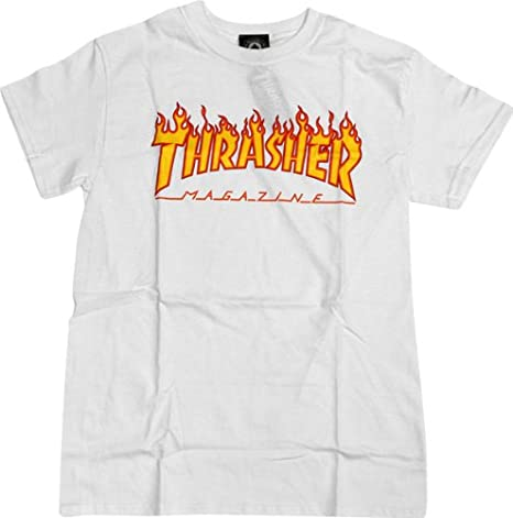 704627ea8 Image Unavailable. Image not available for. Color  Thrasher Flame Logo T- Shirt ...