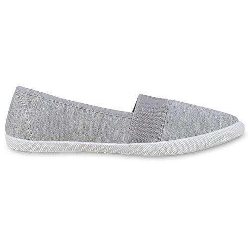napoli-fashion - Mocasines Mujer gris