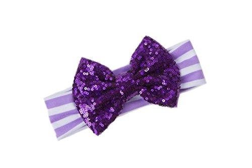 Grace & Lucille Toddler Headband (Purple Stripe With Purple (Grace Stripe)