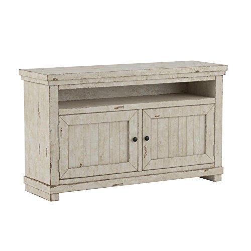 """Progressive Furniture Willow Distressed White 54"""" Console"""
