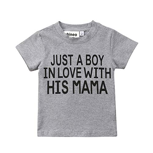 Mubineo Toddler Baby Girl Boy Funny Short Sleeve Cotton T Shirts Tops Tee Clothe (Boy/Mama, 3-4T) -