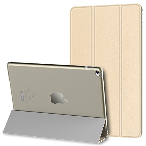 JETech iPad Mini 4 Hülle Schutzhülle Etui Tasche Abdeckung Ledertasche mit Durchschaubar Rückseite für Apple Neu iPad Mini 4 mit Automatischen Schlaf / Wake (Gold) - 3280C