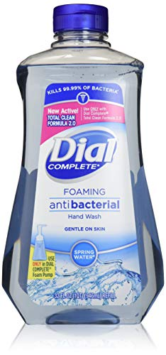 - Dial Foaming Soap Refill, Complete Anti-bacteria Spring Water Hand Wash, 32 Oz (2 Bottle)